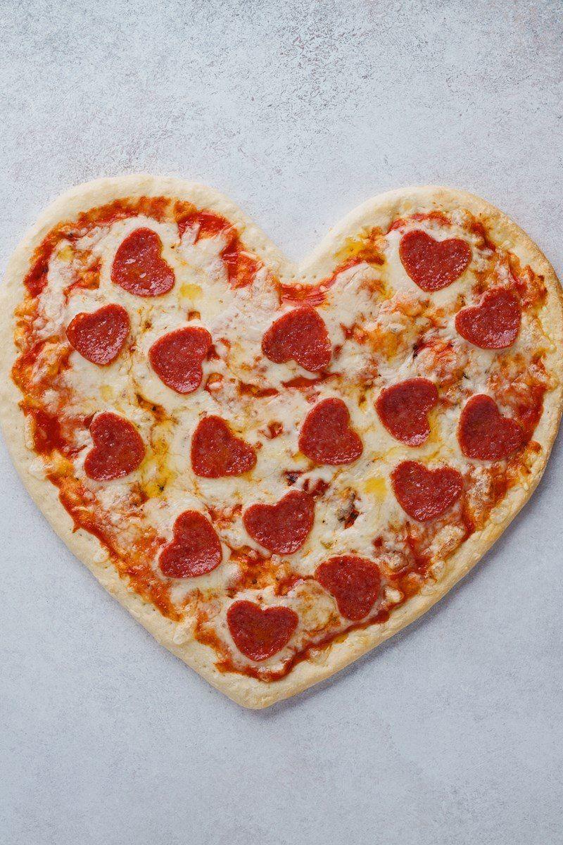 Valentine S Day Heart Shaped Pizza Recipe Pizza Recipes Heart