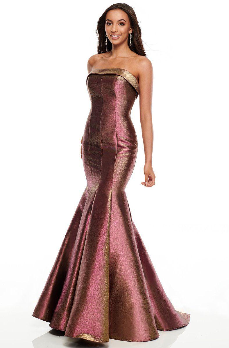 Rachel Allan Prom 7176 Seamed Strapless Mermaid Gown In 2021 Strapless Prom Dresses Strapless Wedding Dress Mermaid Mermaid Gown [ 1200 x 788 Pixel ]