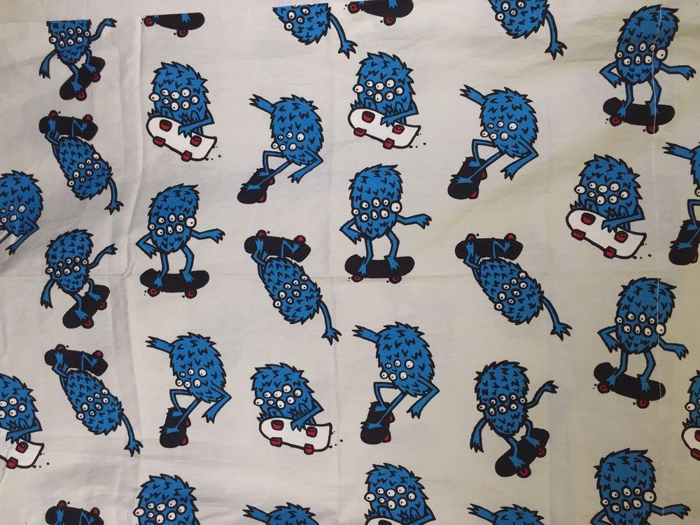 Shaun White Blue Monster 3 Piece Twin Bedding Sheet Set Skate Boarding Cotton Cool Stuff For Sale Bed Sheets Shaun White