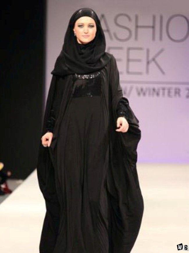 عبايات دبي 2015 صور عبايات 2015 خليجية سوداء اجمل عبايات خليجيه Dubai Fashion Week Dubai Fashion Fashion