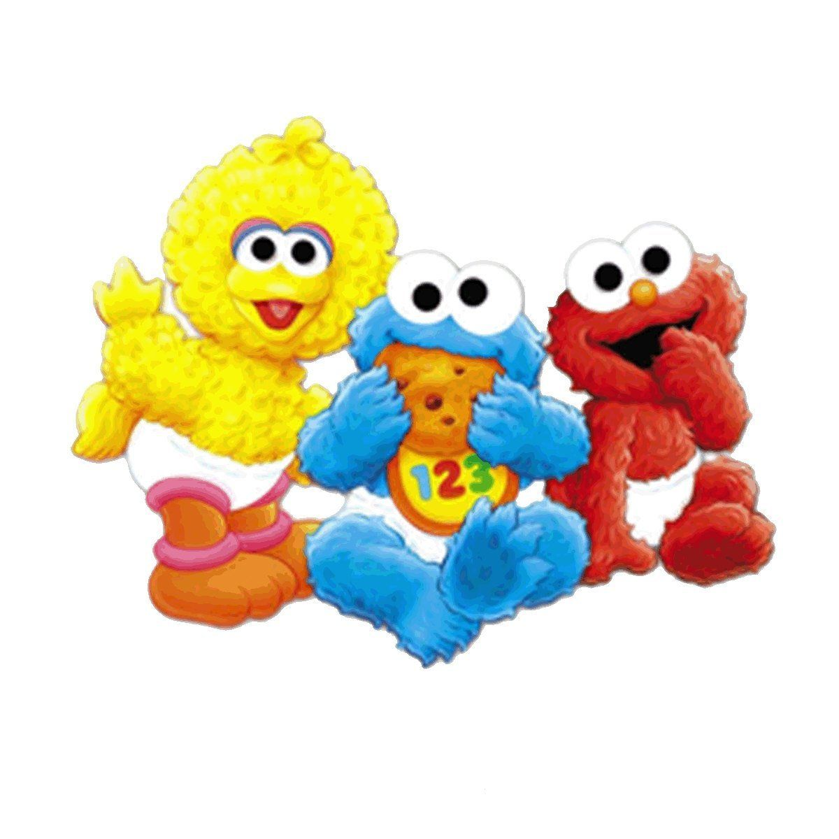 Baby Sesame Street Big Bird Cookie Monster Elmo Edible Cake Topper Frosting Sheet Birthday Party More Forbidden Discounts At The Link Of Image Baking
