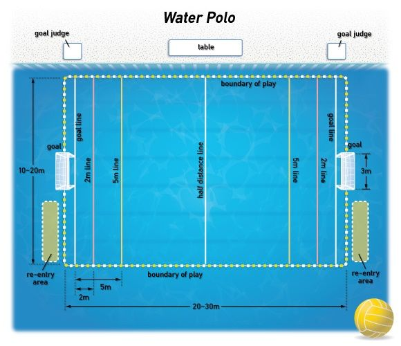 Of A Water Polo Field Ultimately Depend On The Size Of The Pool .