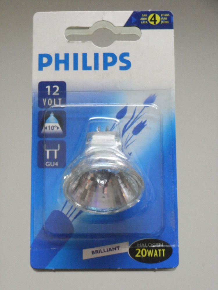5 x Philips Brilliantline Halogen Halogenlampe 12V Spot Reflektor 35W GU4  30°