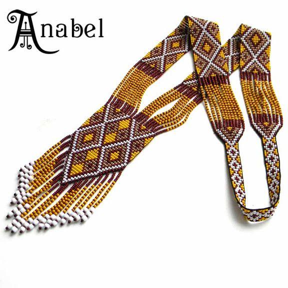 "Гердан ""Медовый"" Split loom necklace http://www.anabel27.com/"