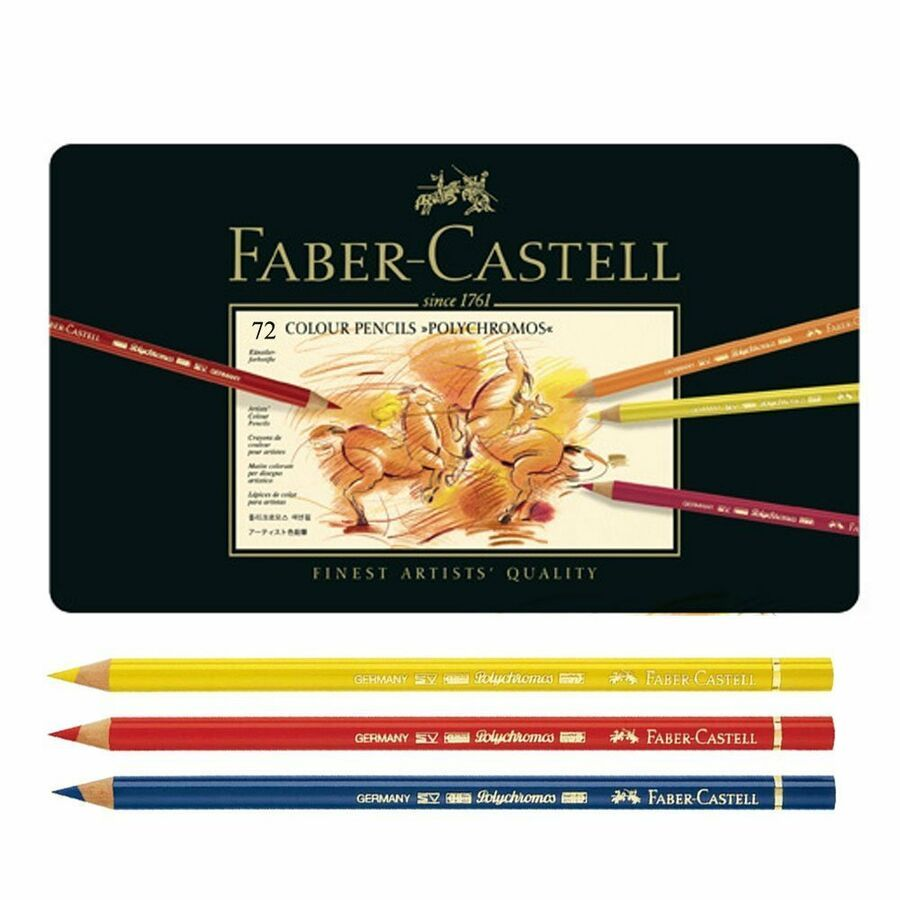 Faber Castell Polychromos pencils tins 60 72 120 colors