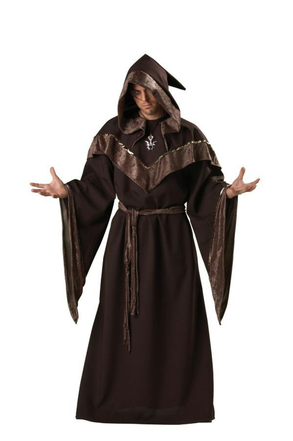 high quality sorcerer costume medieval dark priest evil wizard robe halloween men costumes x large