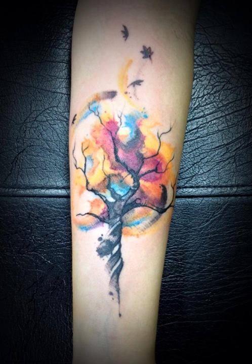 Tattoo Watercolor Tattoo Tree Tattoos Tattoo Designs