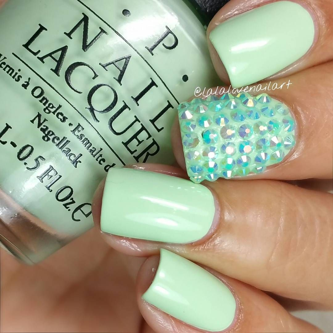 mint.quenalbertini: Instagram photo by lalalovenailart | Minty ...