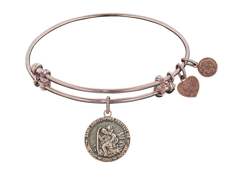 Angelica Collection St. Christopher Expandable Bangle