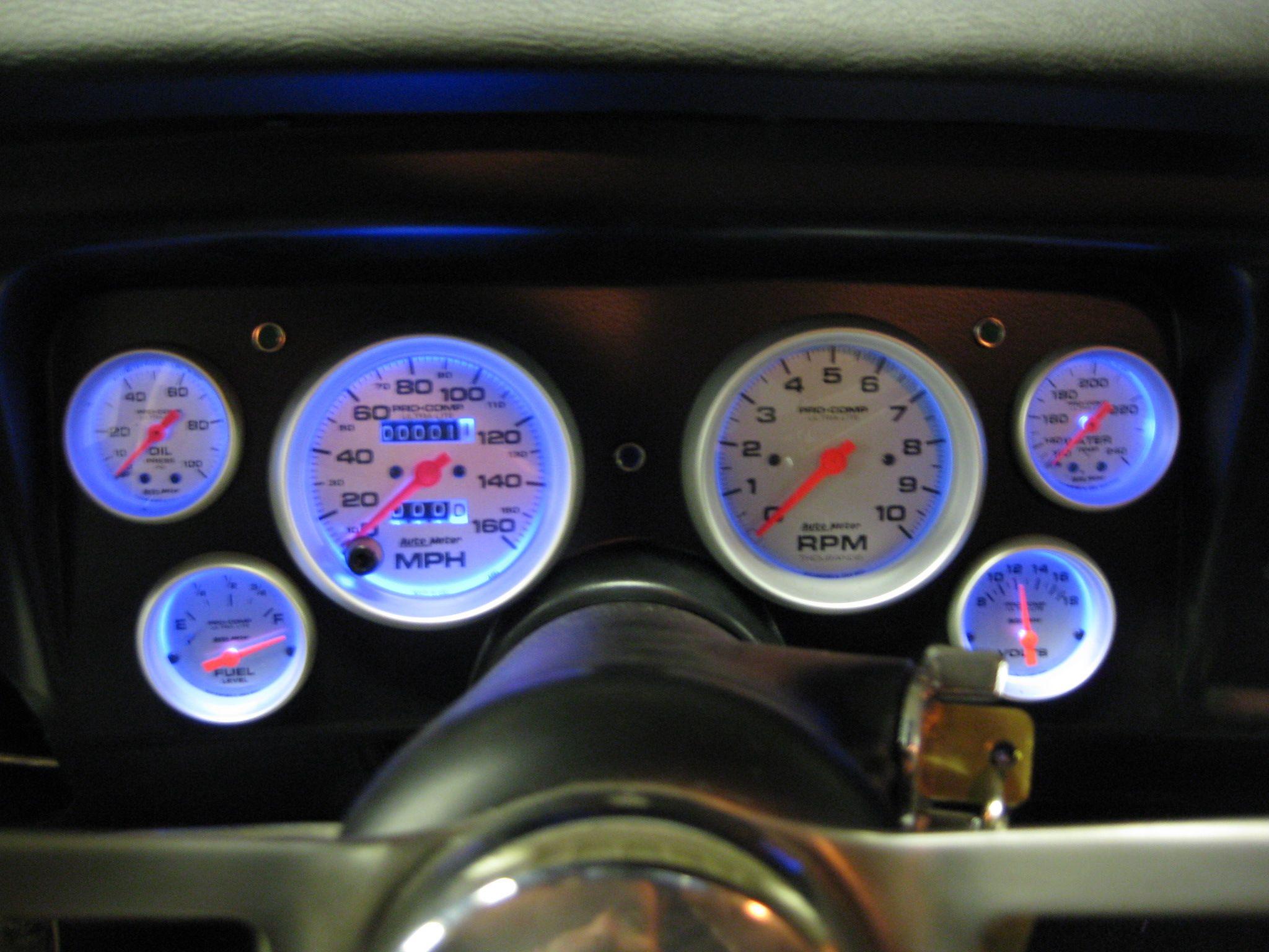 1969 Chevelle Classic Dash Install, Blue LED Lights.   Cars I work ...