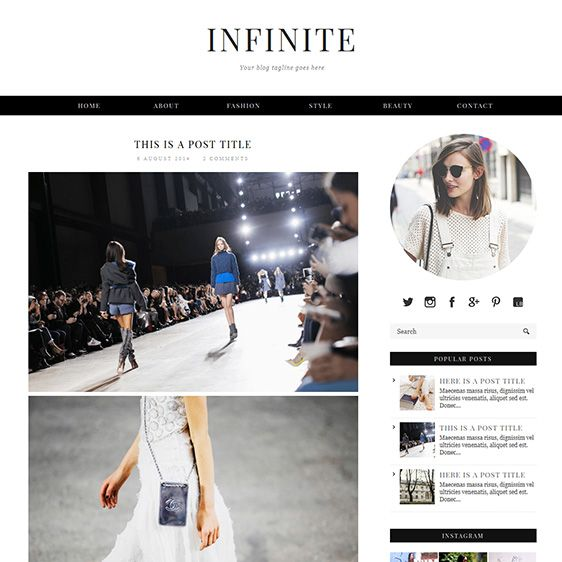 Blogger Template Infinite Blog designs, Template and Social icons