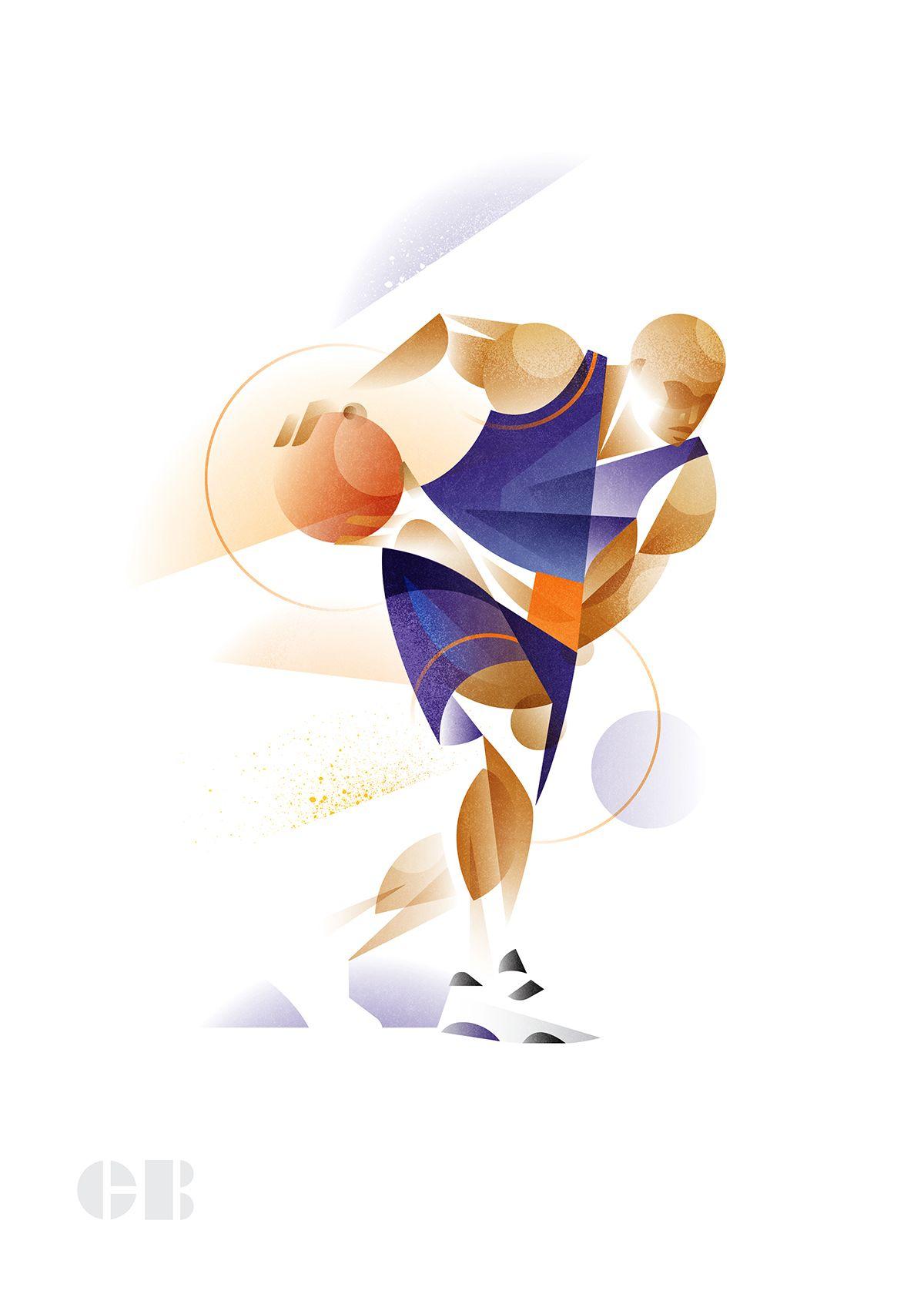The Geometry of Sport Illustration design, Sport