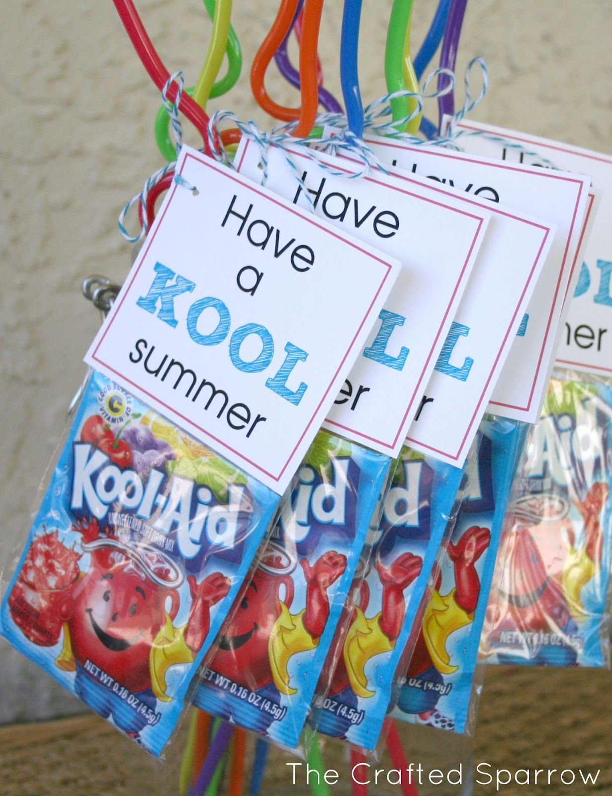 Gentil Cute Idea For Summer Party Favor. Kool Aid Packet, Crazy Straw Put Together