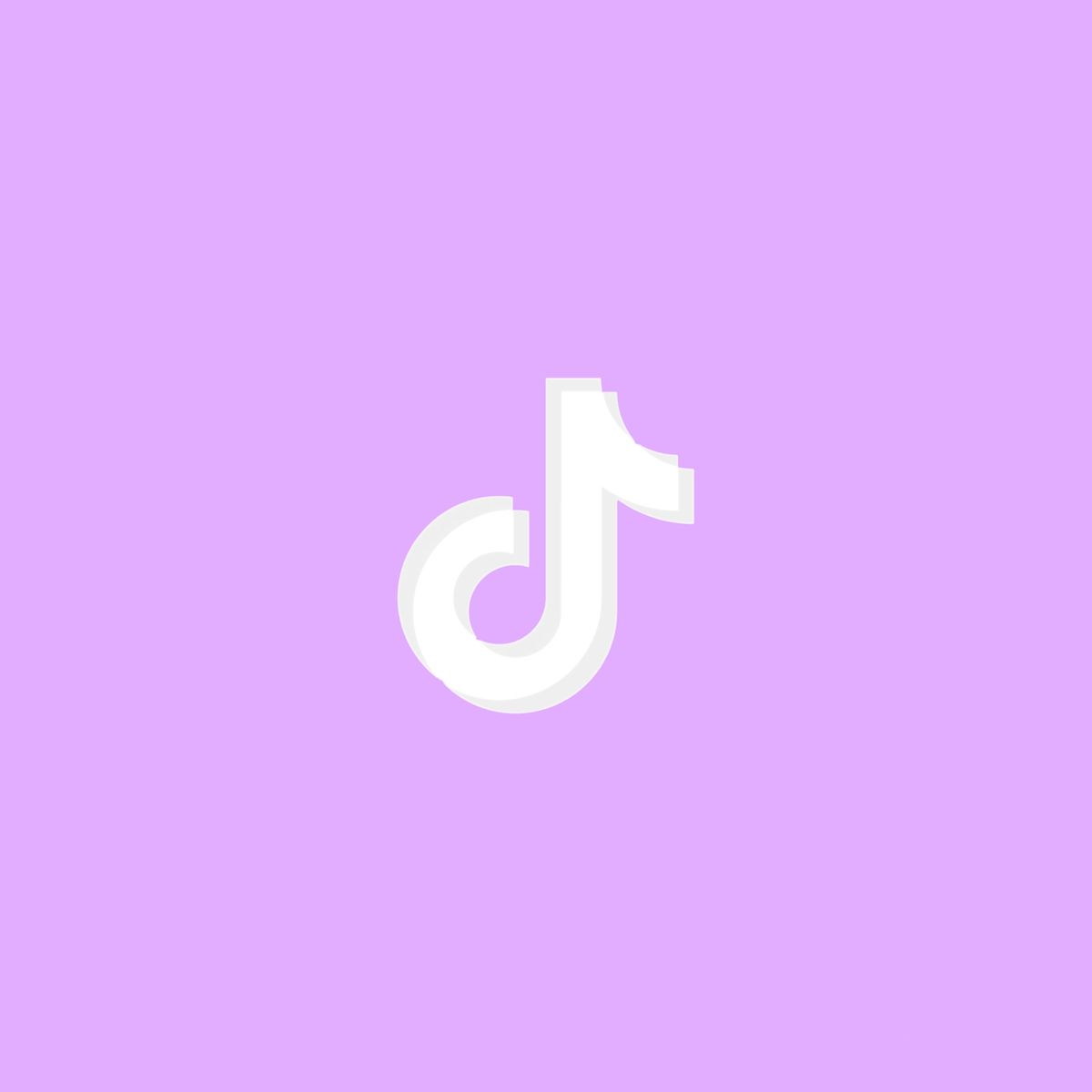 Purple Aesthetic Tik Tok App Icon For Ios14 App Icon Design App Icon Purple Wallpaper Iphone