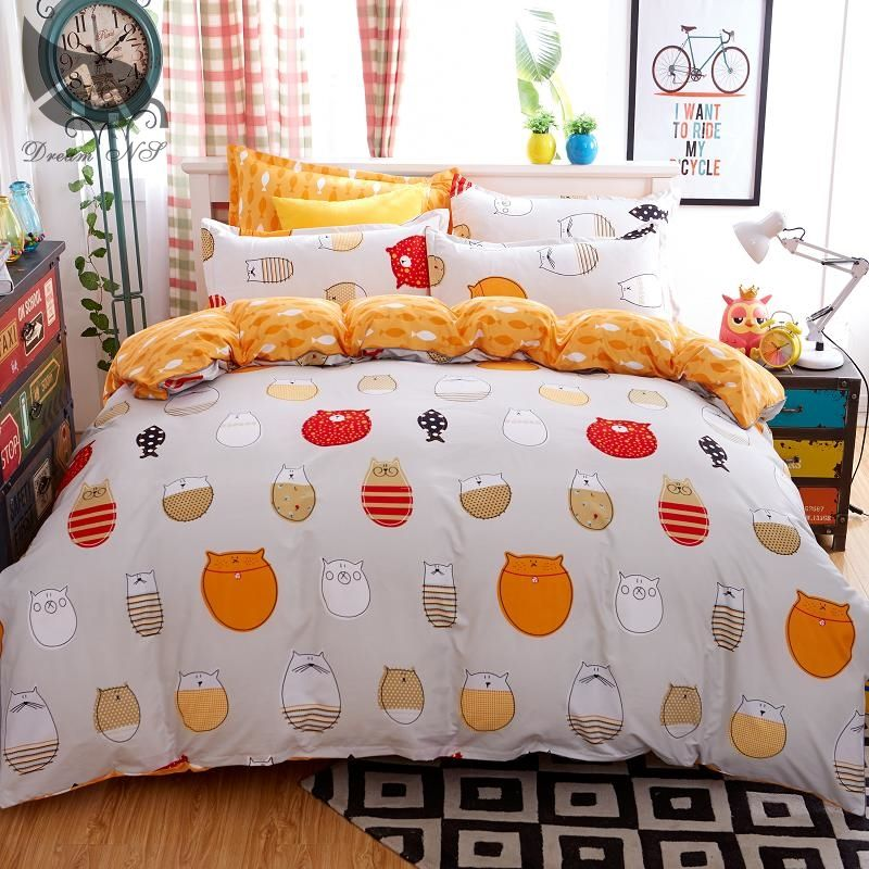 home d cor diy Dream NS Bedding Set 4 Pieces Cartoon cat Style Watermelon  Duvet. home d cor diy Dream NS Bedding Set 4 Pieces Cartoon cat Style