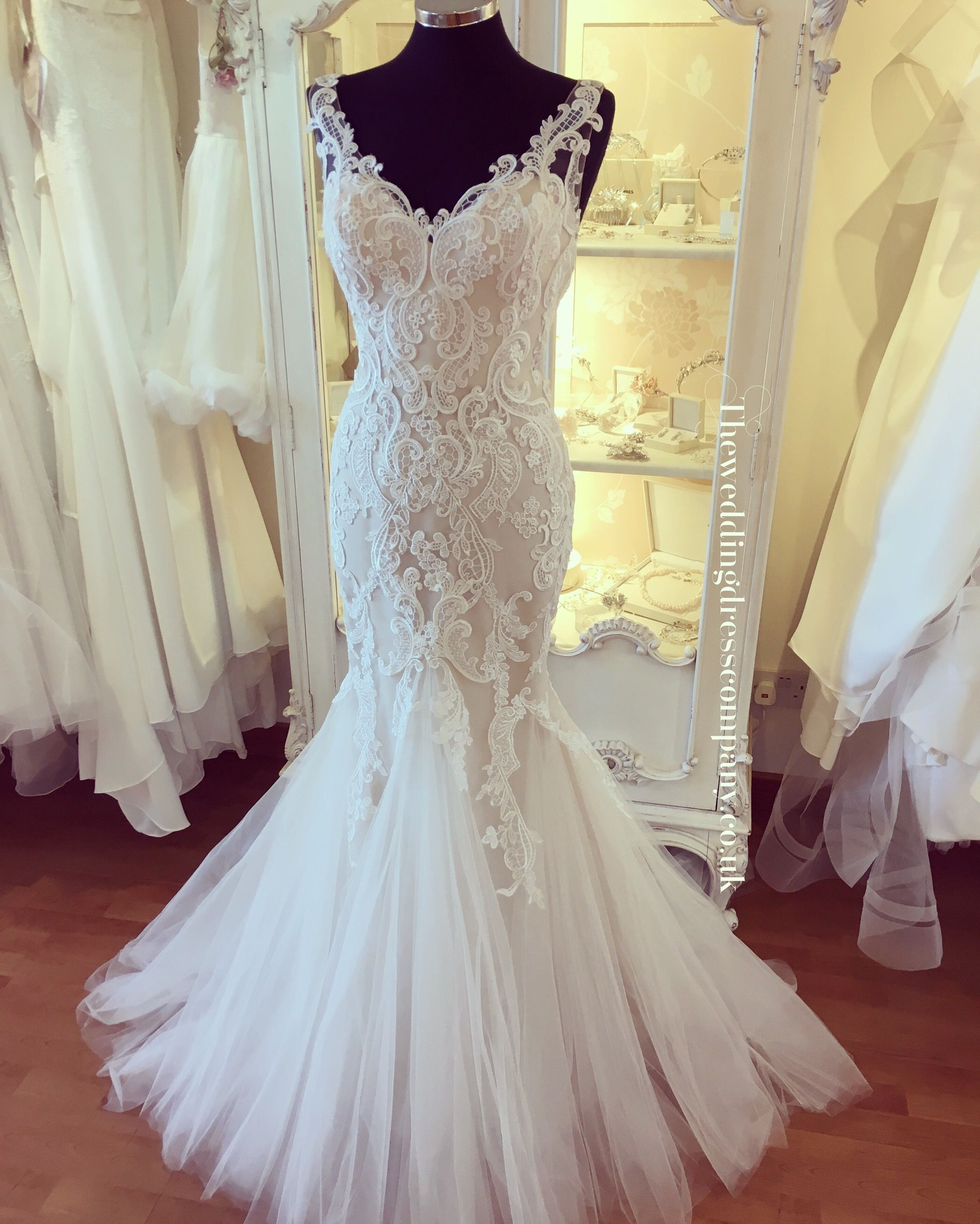 Enzoani 2017 fitted mermaid fishtail with tulle bottom and