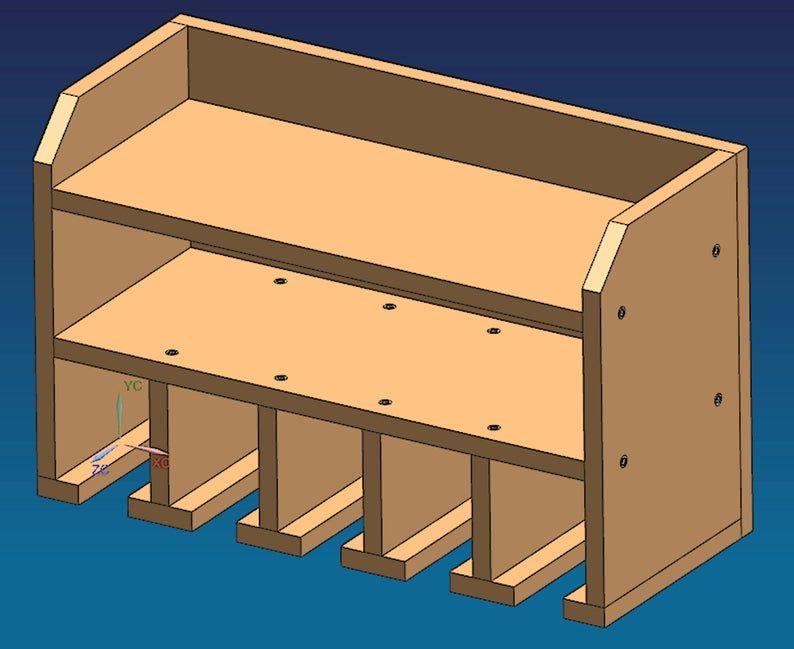 Pdf Plans Power Tool Holder Plan Cordless Tool Organizer Plan Drill Charging Station Plan Wall Mounted Tool Storage Plan Metric Measurments In 2020 Tool Storage Diy Power Tool Storage Tool Storage