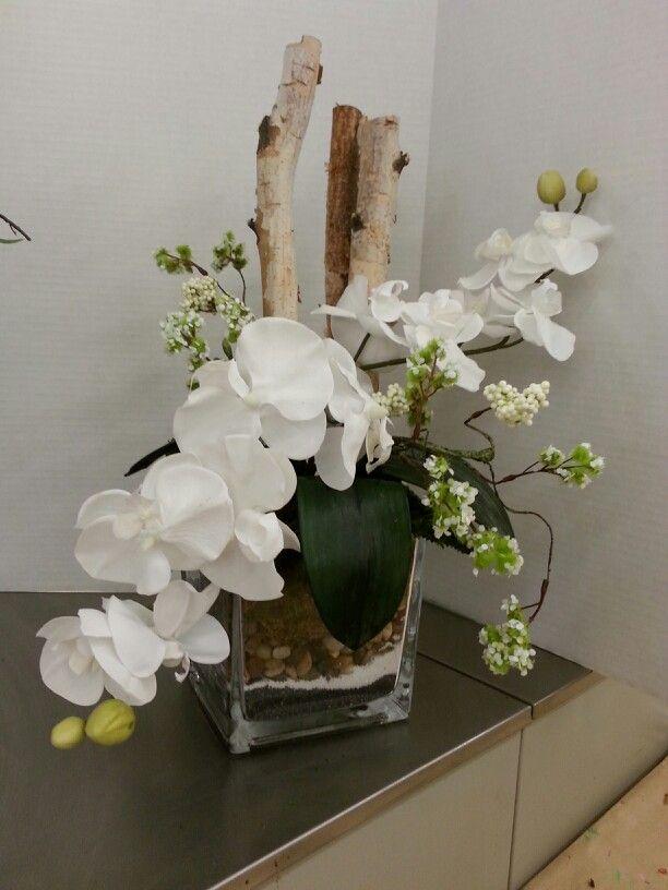 Orchids Orquideas Brancas Arranjos De Flores Artificiais