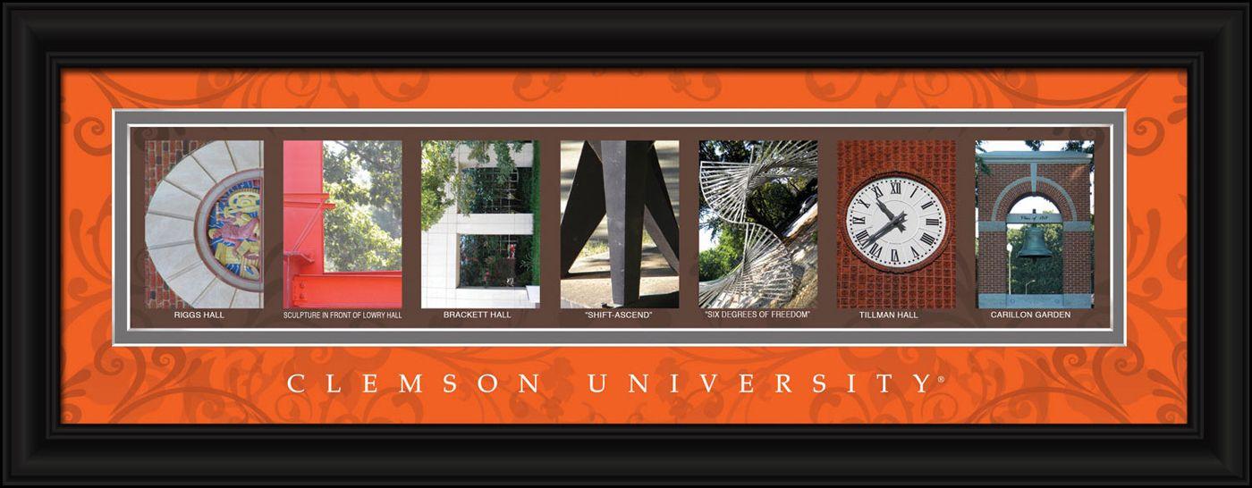 Clemson tigers campus letter art letter wall art letter