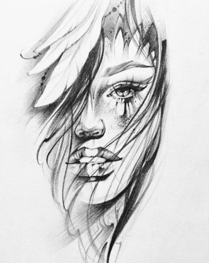 60 Ideas for womens face tattoo sketch girls