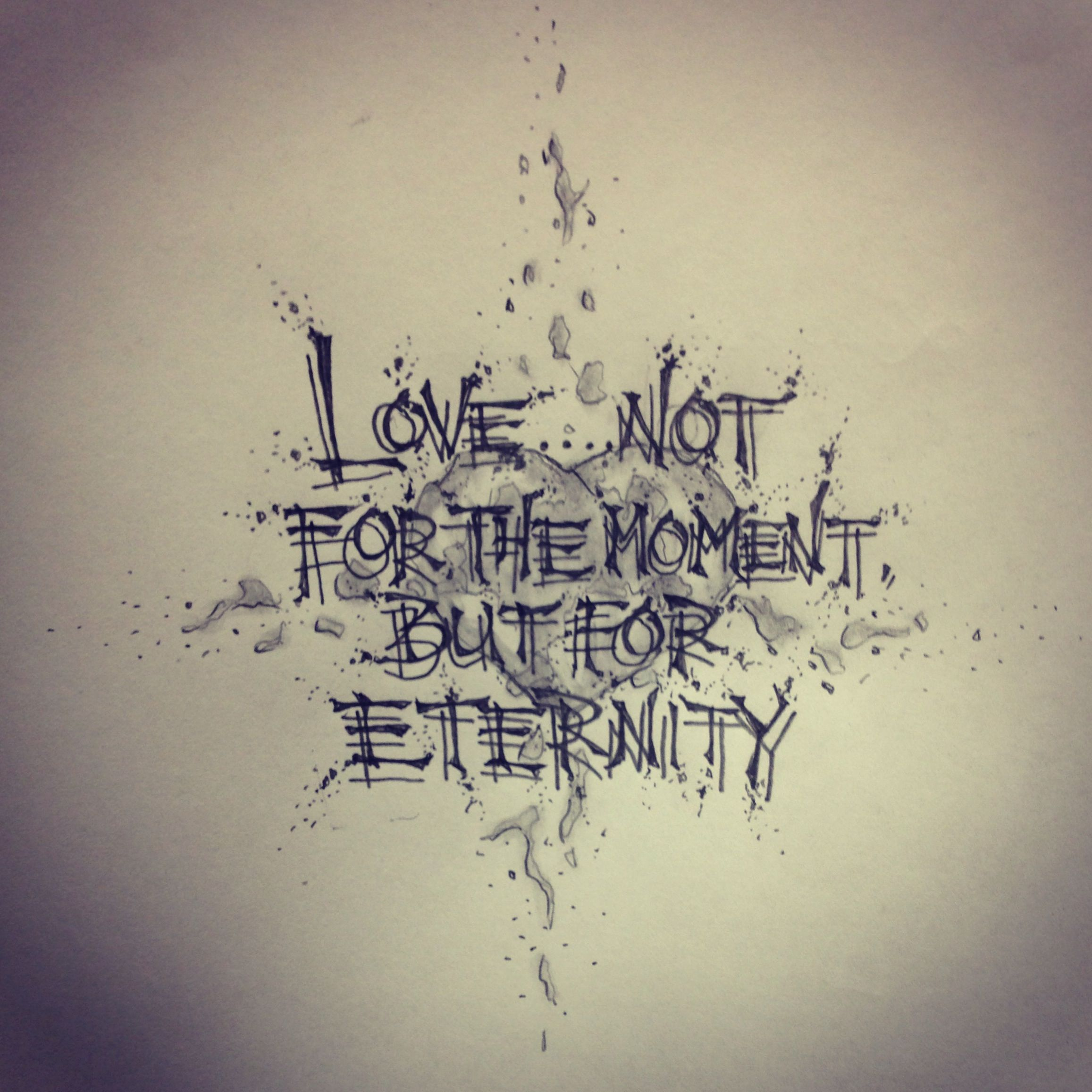 Love Quote Tattoo Sketch By -…