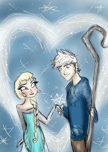 Jack frost and Elsa!