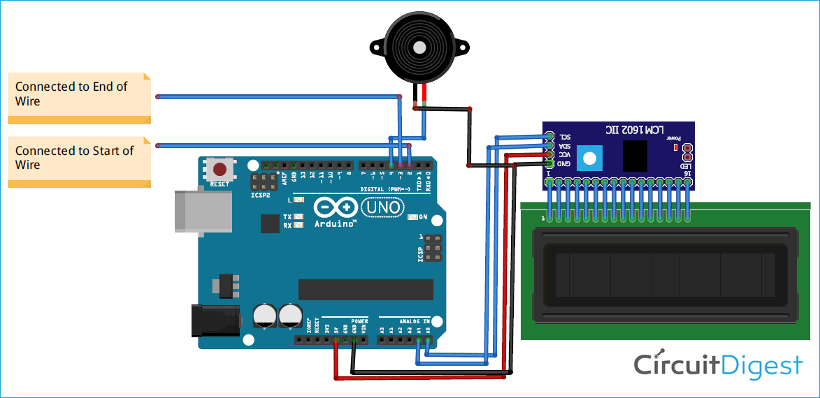 Arduino Buzz Wire Game Circuit Diagram in 2020 | Arduino, Electronics  circuit, Arduino projectsPinterest