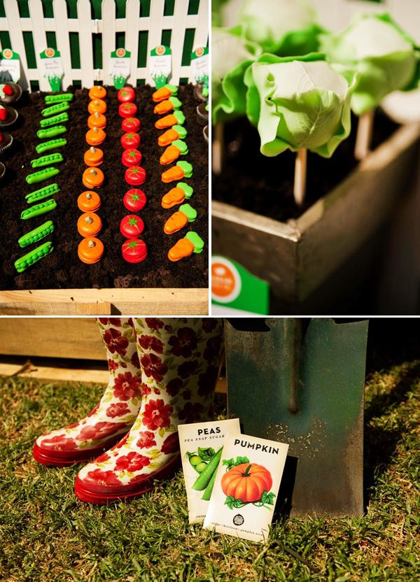 Insanely creative veggie patch birthday party gardens for Vegetable patch ideas