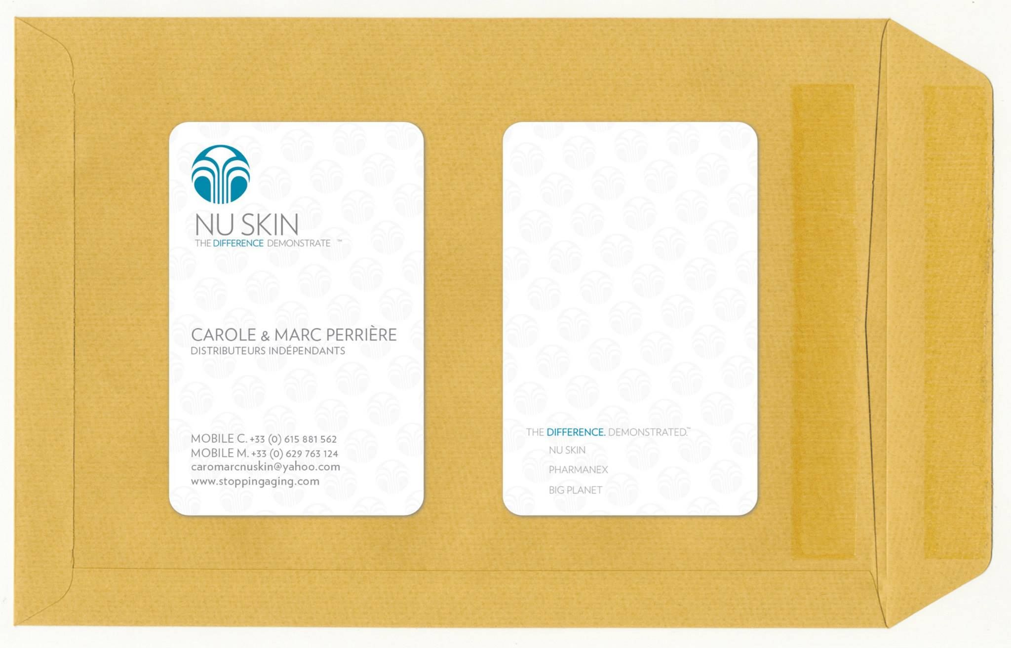 Carte De Viste Pour NU SKIN Creation Et Impression Bord Rond Vernis Selectif Inside
