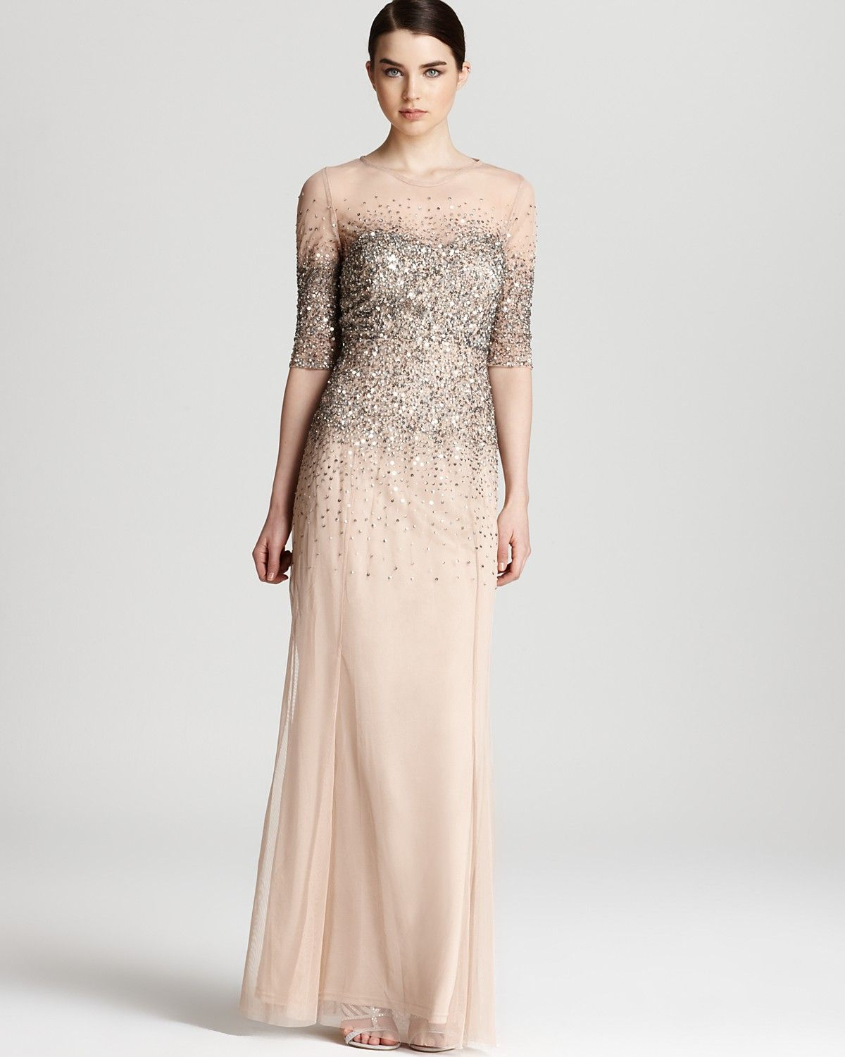 Adrianna Papell Gown - Sequin Bodice | Bloomingdale\'s. Boda elegante ...