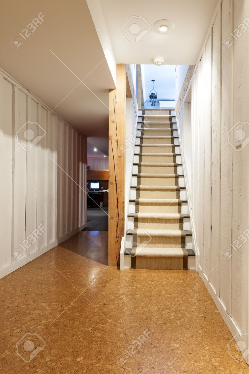 Cork Flooring For Basement Stairs Basement flooring