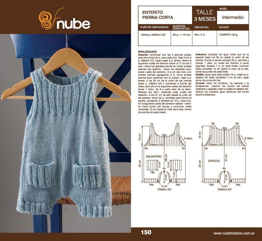 Lanas y más blog: Enterito o ranita verano para bebé | Tutoriales ...