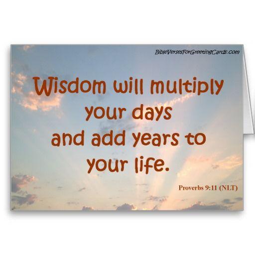 Scripture Birthday Card - Proverbs 9:11
