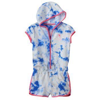 Juicy Couture Tie-Dye Hooded Romper - Girls 7-16