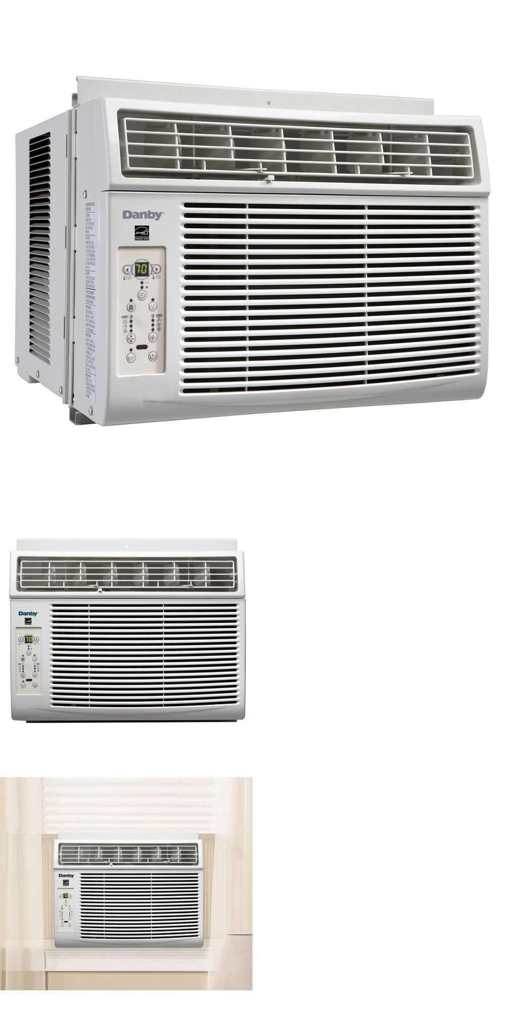 Central Air Conditioners 185108 White Danby 8000btu Window Air Conditioner Cools Up To 350 Sq Window Air Conditioner Central Air Conditioners Air Conditioner