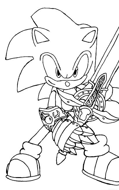 Sonic With A Sword Coloring Pages Hedgehog Colors Unicorn Coloring Pages Animal Coloring Pages