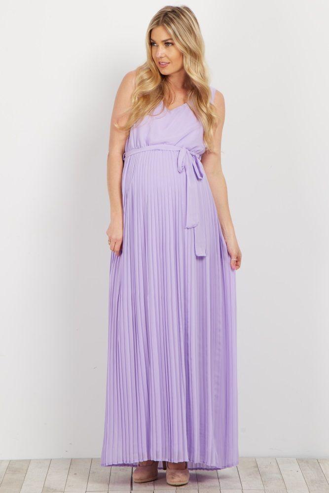 3ba426d28b276 Lavender Button Pocket Front Maternity Dress | Amor hijo | Maternity ...
