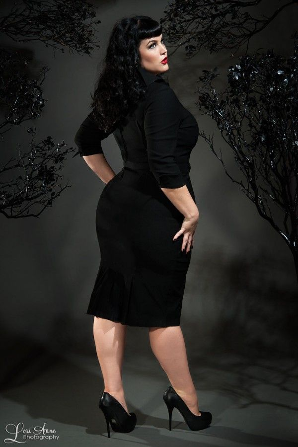 9d0a47b6dcc07 Pinup Couture Plus Size Lorelei Dress in Black
