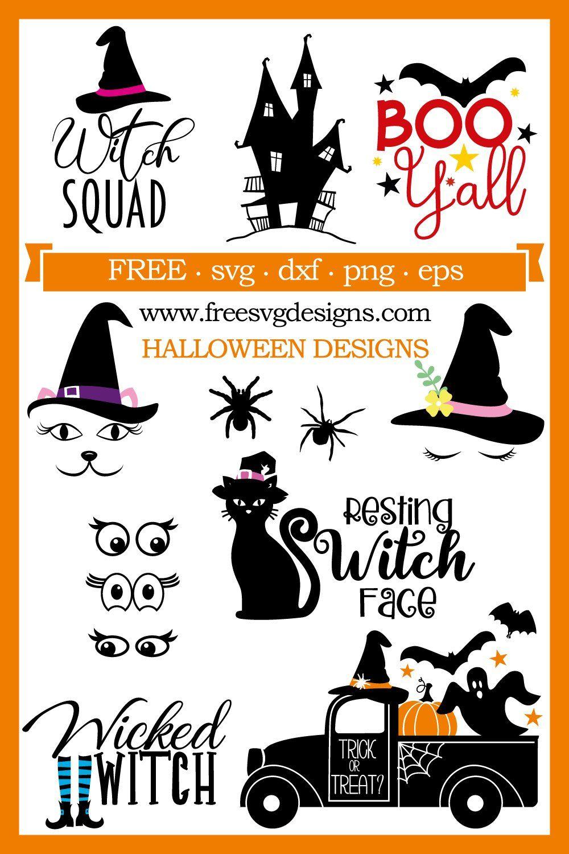 Set of Happy Halloween vectors free image by