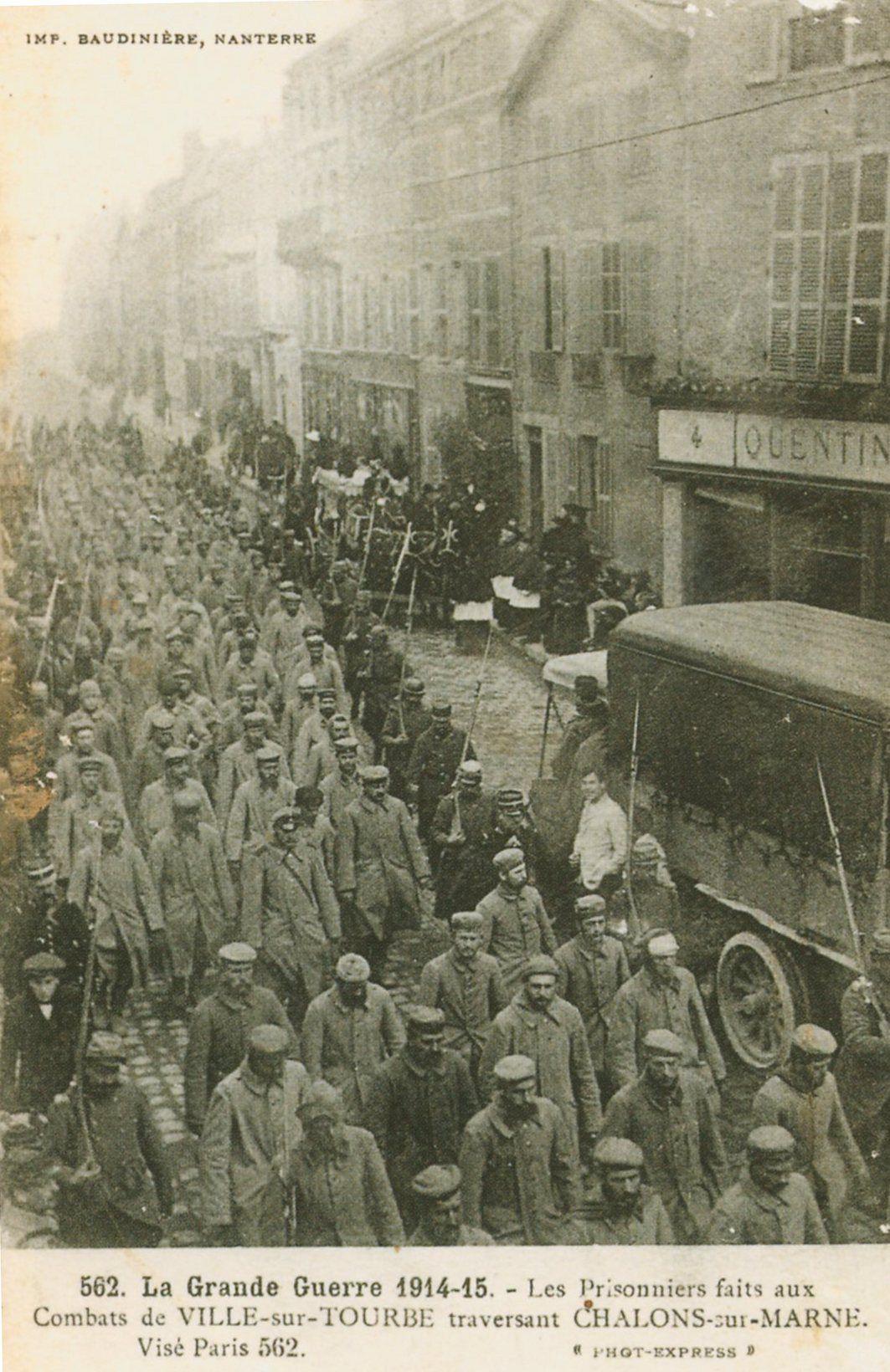 Clio Team Carte Postale Postcard 1914-1918 1915 Prisonniers faits aux combats de Ville-sur-Tourbe