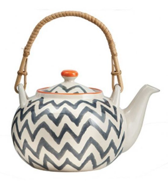 Chevron tea pot