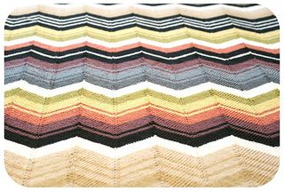 Vintage missoni inspired chevron blanket pattern by kelly kingston 3 missoni style knitting patterns available dt1010fo