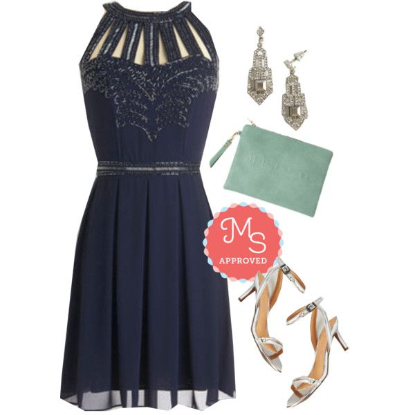 In this outfit: Snowfall Soiree Dress, Inspirational Era Earrings, Bonjour Couture Bag, Wow We're Talkin' Heel #formal #fancy #winter #prom #dresses #heels #ModCloth #ModStylist