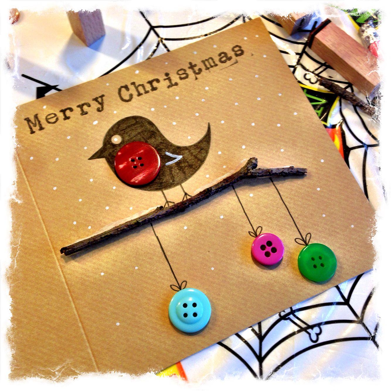 Crafty Robin Christmas Card by Matt Carter