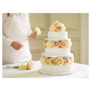 The Weddingista: May 2012 Marks and Spencer cake (imagine the flowers in purples and pinks)