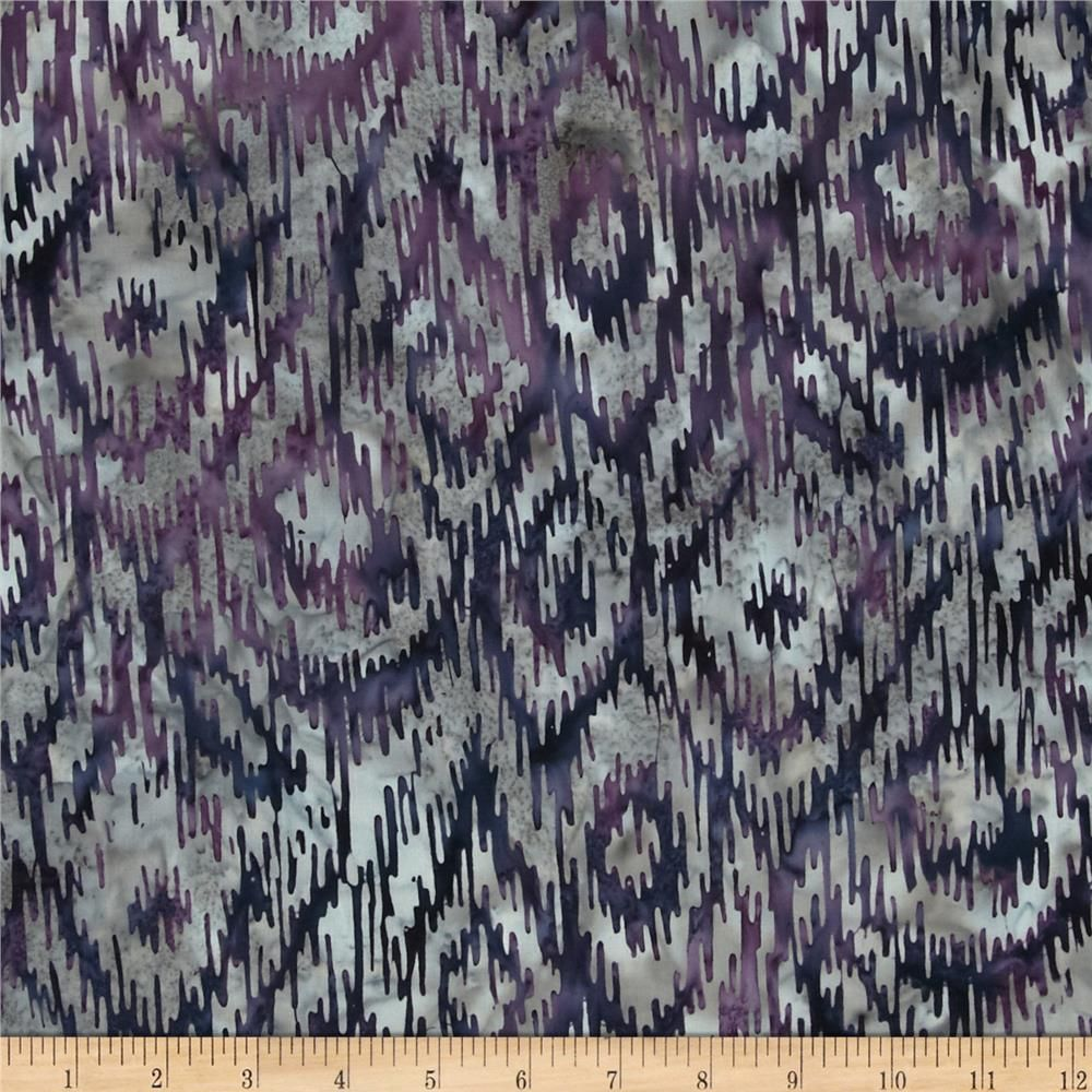 Bali Batik Handpaints Ikat Monaco from @fabricdotcom  Designed for Hoffman International Fabrics, this Indonesian batik is perfect for quilting, craft projects, apparel and home décor accents. Colors include shades of indigo, grey, and purple.