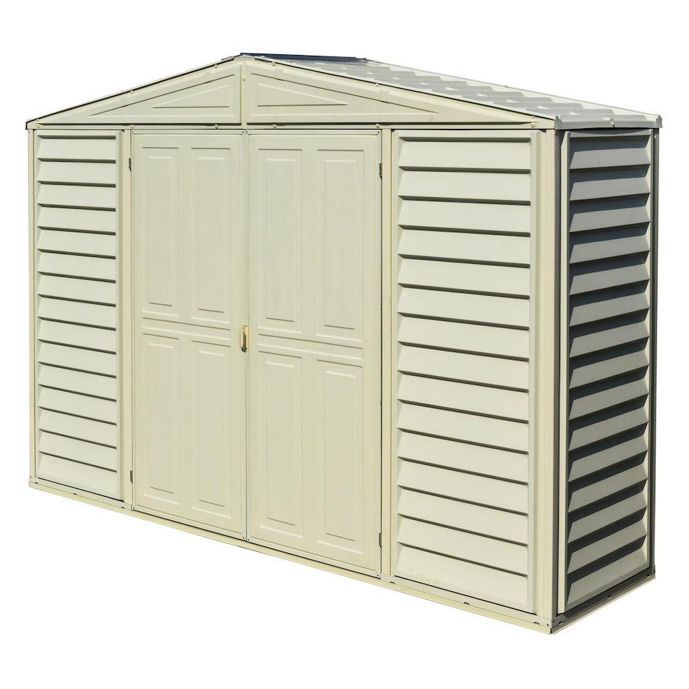 Duramax Building Products Sidepro 10 5 Ft X 3 Ft Vinyl Shed 98001 The Home Depot In 2020 Vinyl Storage Sheds Vinyl Sheds Pallet Shed Plans