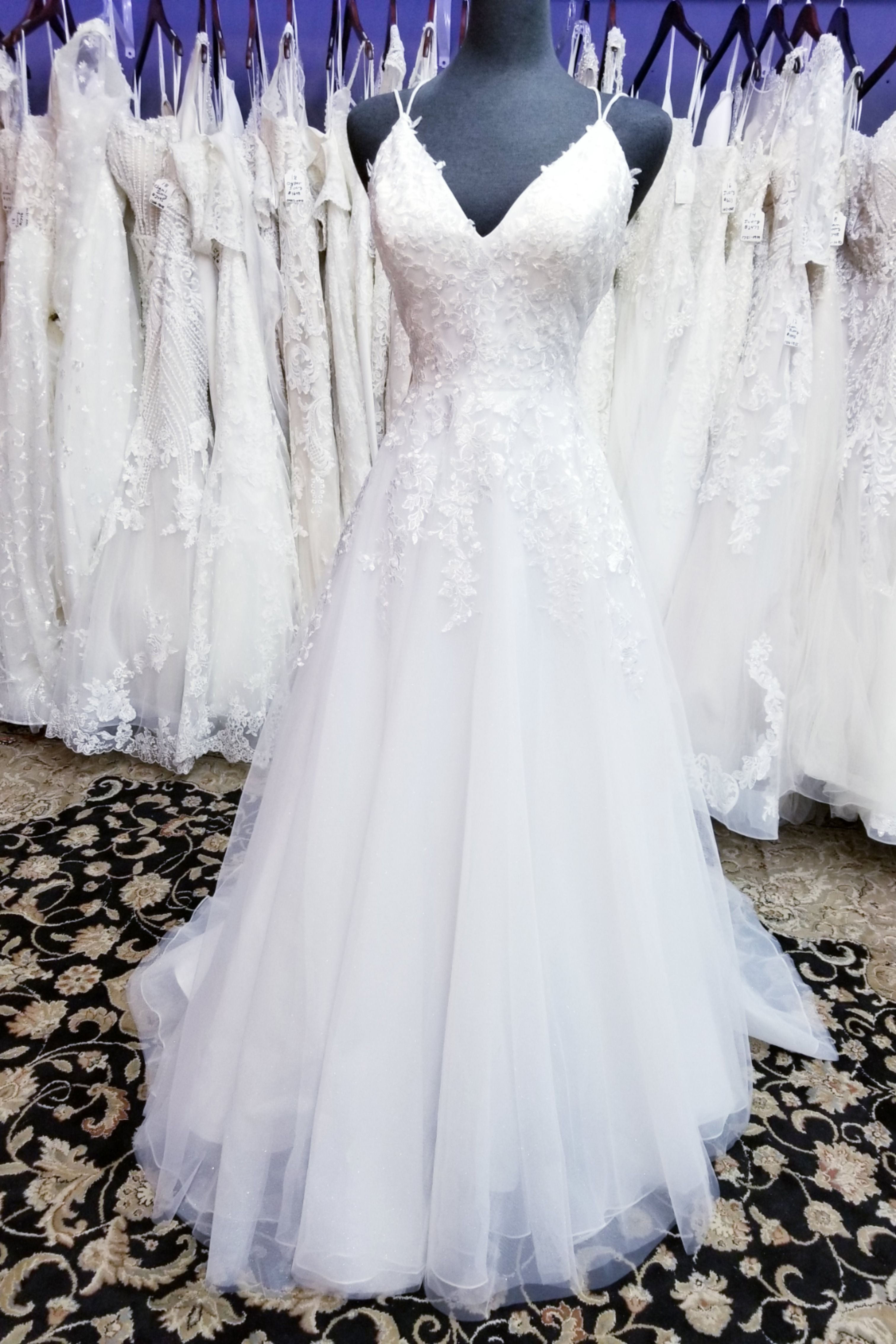 Dress 4 Modified A Line Lace Bridal Gown In 2020 Beaded Lace Wedding Dress Wedding Dresses Lace Bridal Gown
