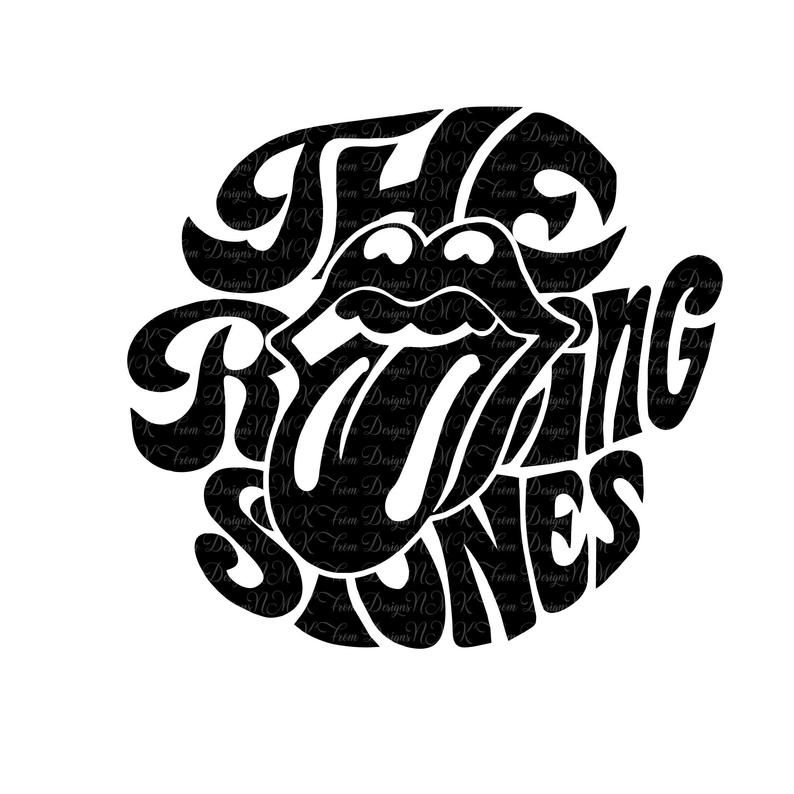 The Rolling Stones Tongue Logo Svgepspdfdxf Png Ai Etsy Rolling Stones Logo Graphic Design Images Graphic Tshirt Design