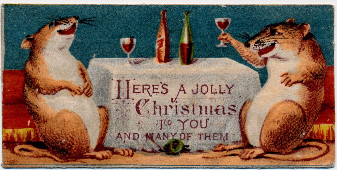 Mouse Christmas card